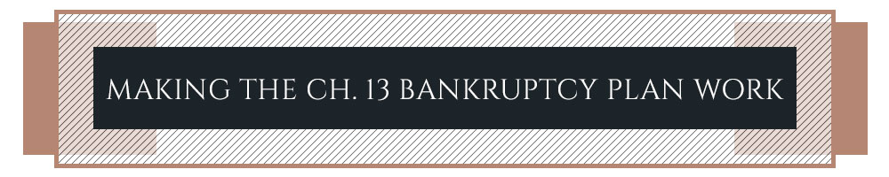 Making the Ch. 13 Bankruptcy Plan Work
