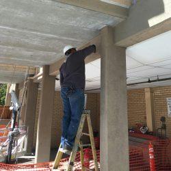 concrete column repair.