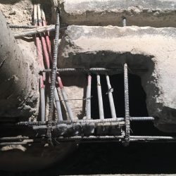 Partial and full depth concrete patching, Post-tension cable repair, Rout and seal cracks