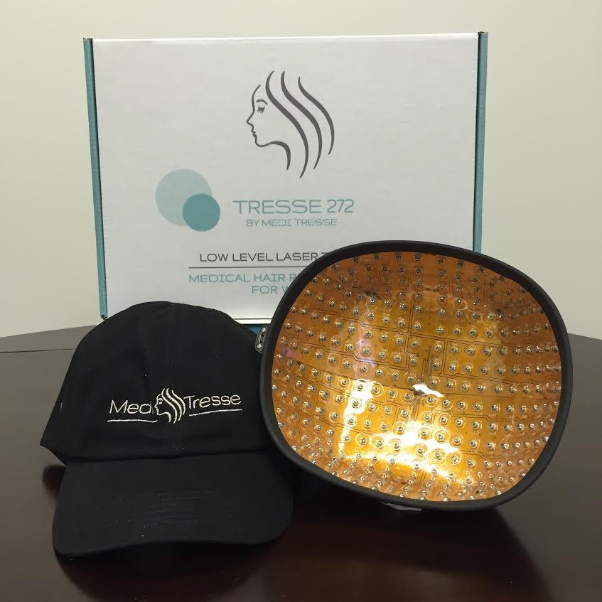 Medi Tresse laser cap for female hair loss.