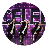 Circle Image of dancers in the same outfit
