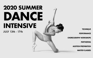 2020 Summer Dance Intensive promotional banner