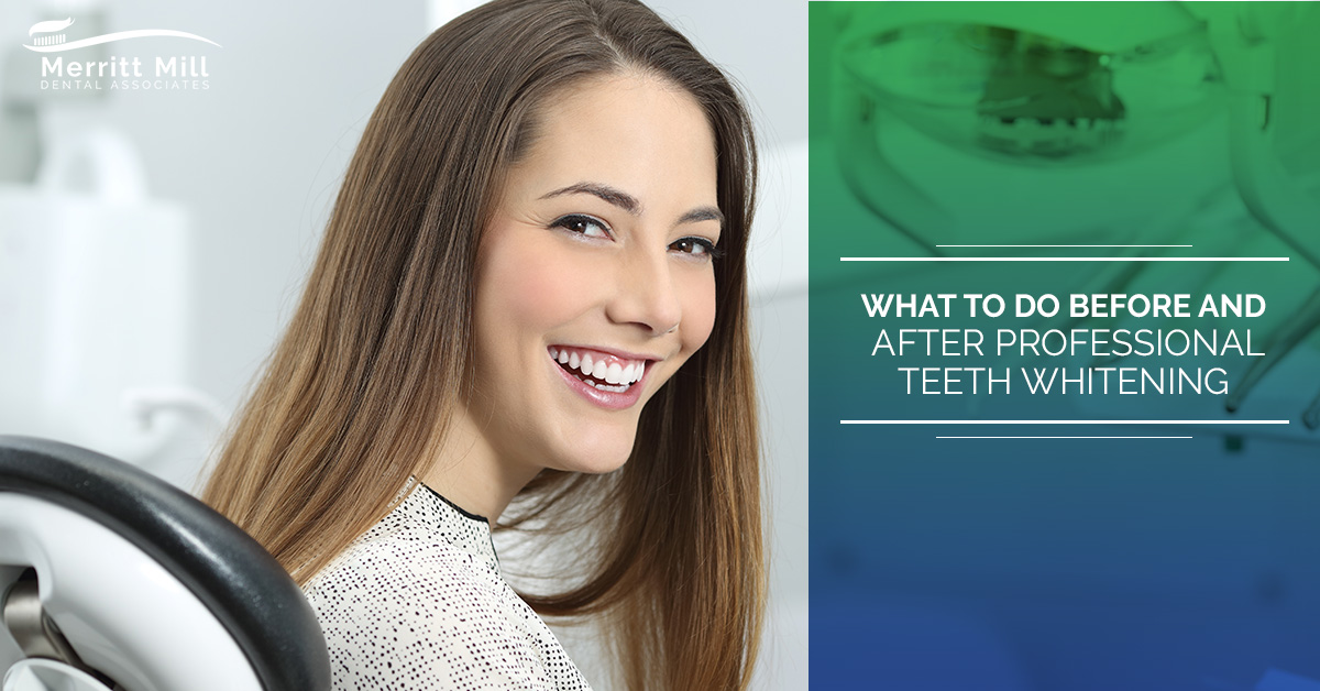 Before And After Professional Teeth Whitening Merritt Mill
