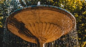 image of outdoor water feature