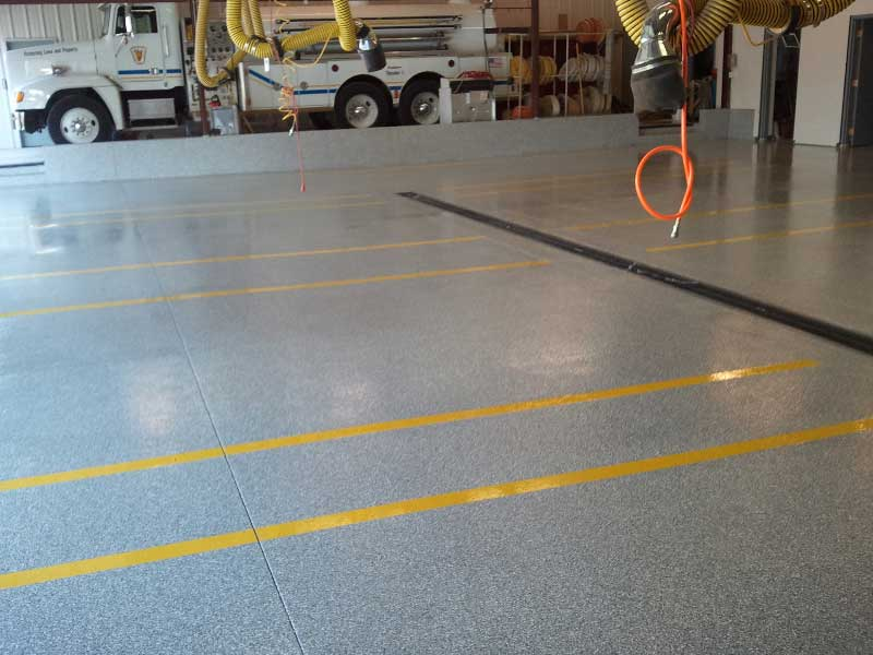 Photos Of Our Polyaspartic Floor Coatings