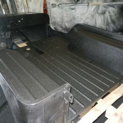 Jeep tub recently sprayed with LINE-X polyurea coating