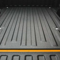 Beautiful close-up of truck bed coated by LINE-X of Indianapolis