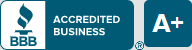BBB A+ Rating from the Better Business Bureau