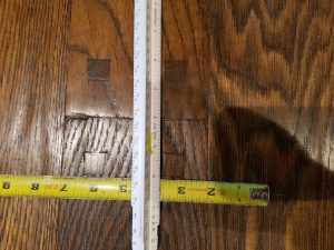 hardwood floor before recoating and refinishing