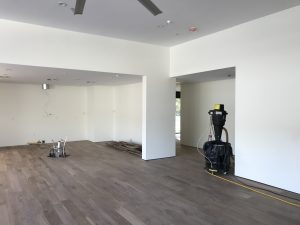 New hardwood flooring refinishing in North Phoenix home