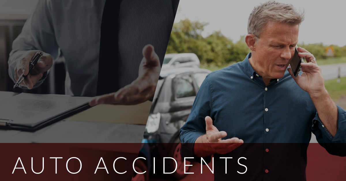 man talking to lawyer after car accident
