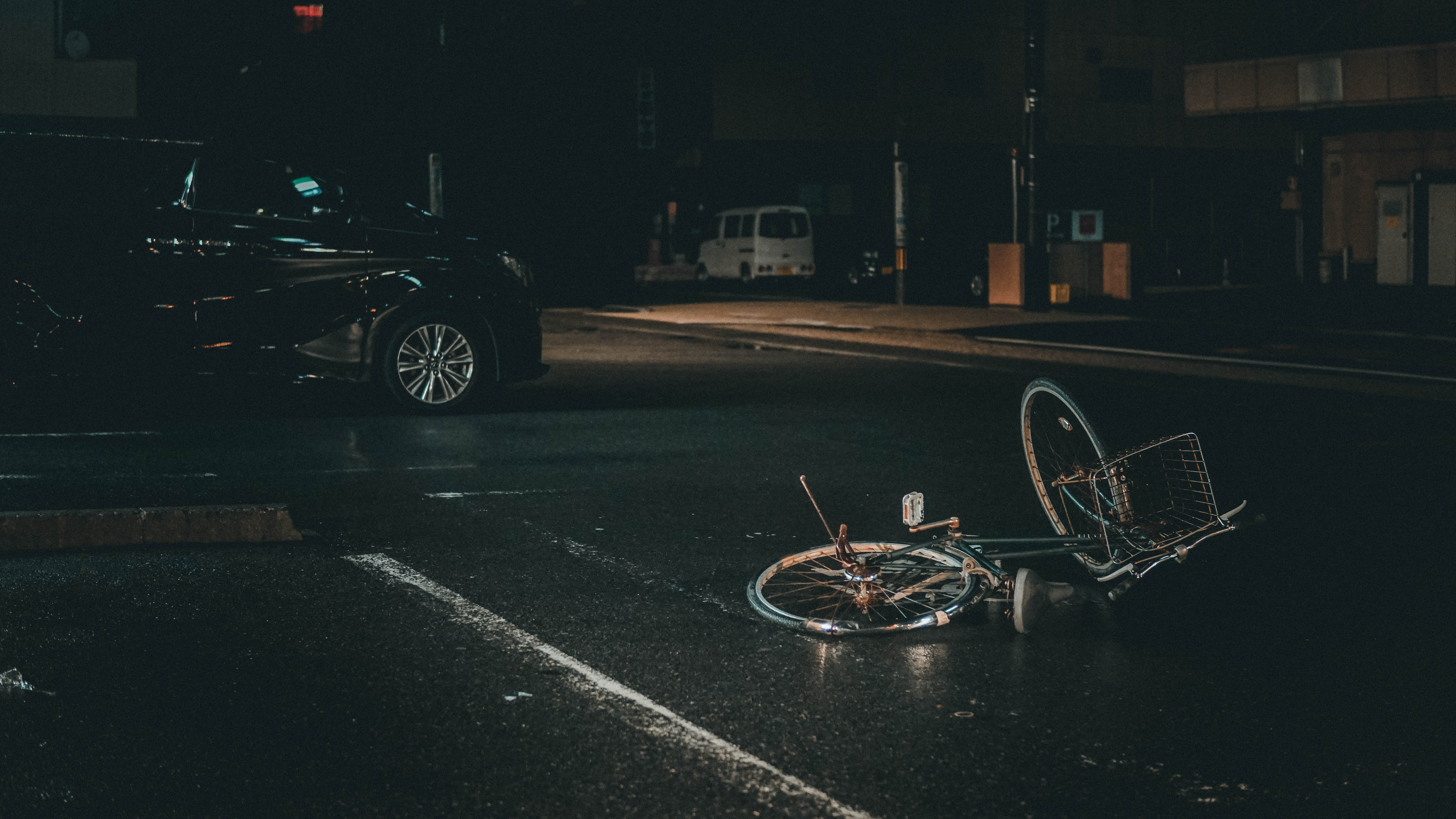nighttime bicycle accident