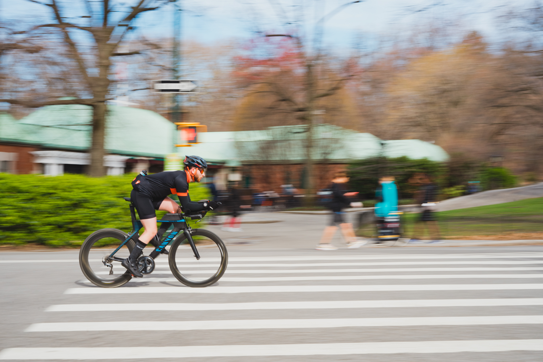 bike rider on road