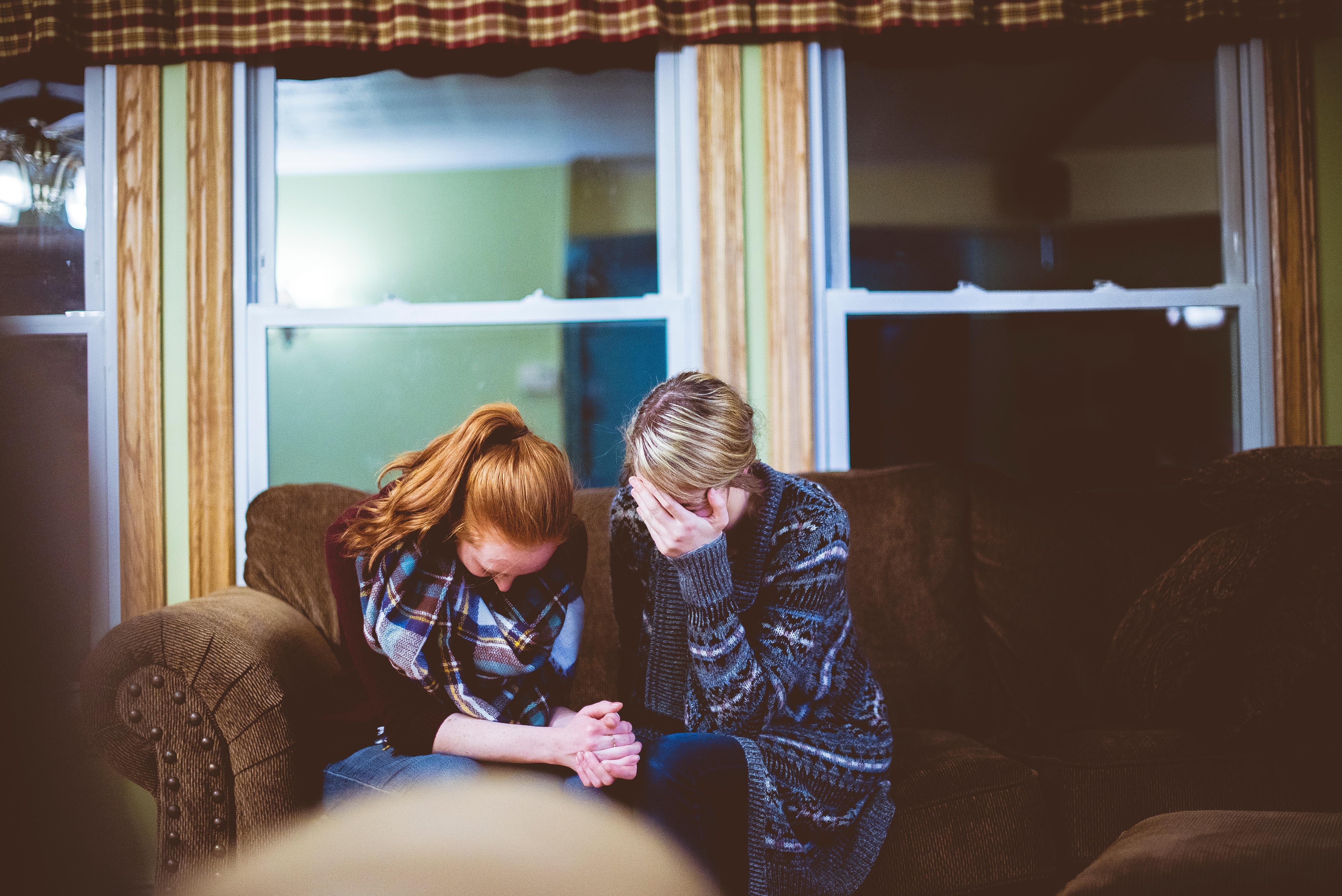 women grieving wrongful death