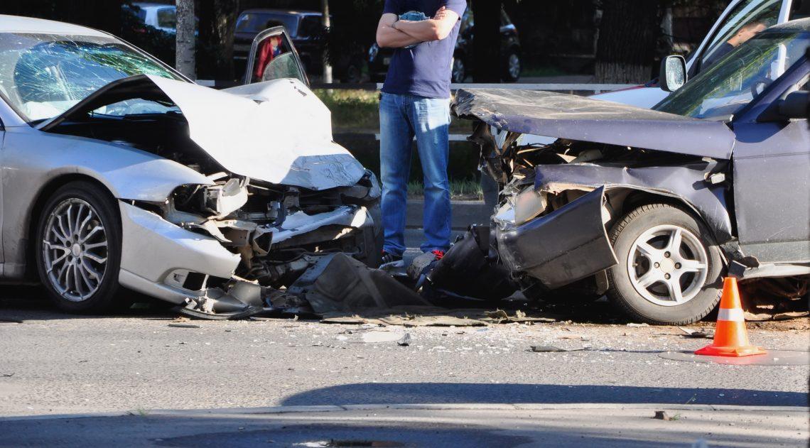 car crash scene