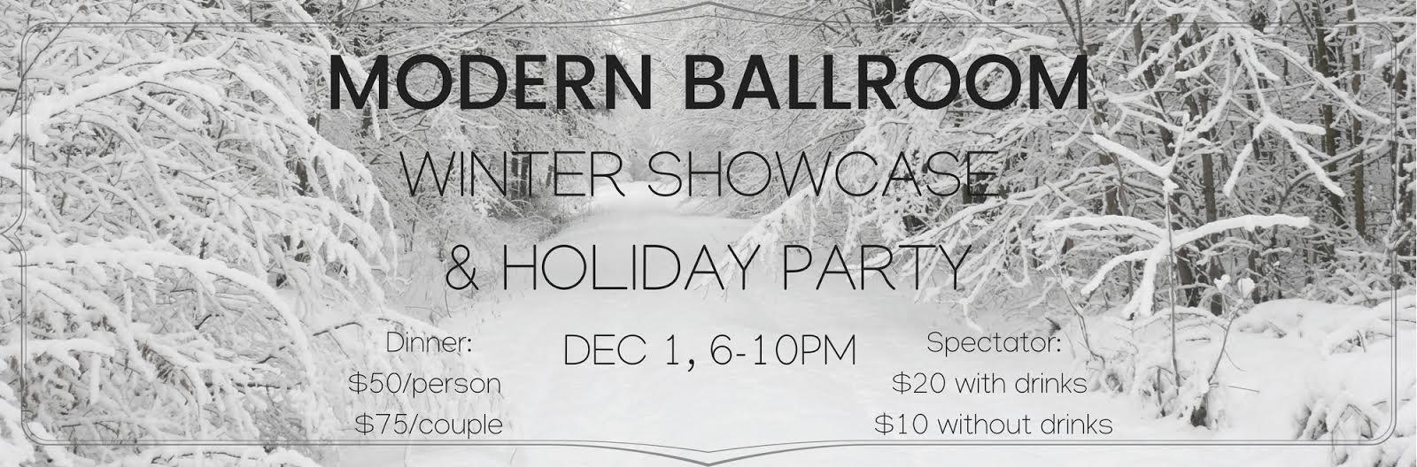 Modern Ballroom Dance Studio WInter Showcase