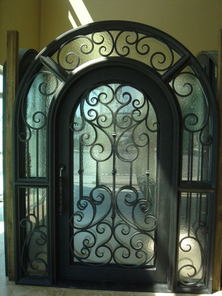 Decorative Steel Front Entry Doors : Custom iron doors windsor wrought front door co