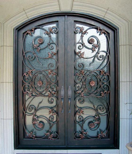 Custom iron doors windsor wrought iron front door co for Wrought iron front doors