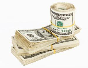 bound hundred dollar bills
