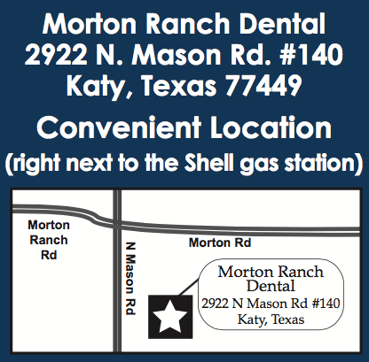 The location of our dentist in Katy, Texas.