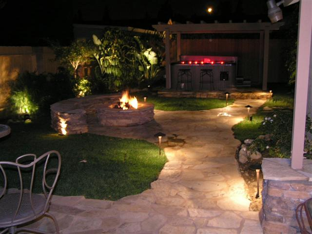 Charmant Backyard Landscape Lighting. Colorado Landscape Lighting Outdoor Mountain  West Garden Lights Led Backyard
