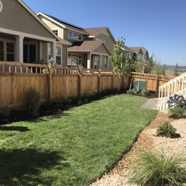 Castle Rock sod installation