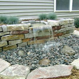 Local landscapers water feature