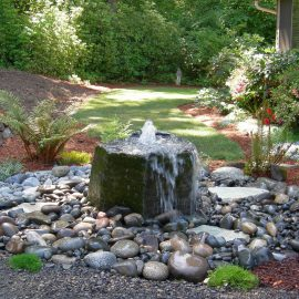 modern landscaping water feature