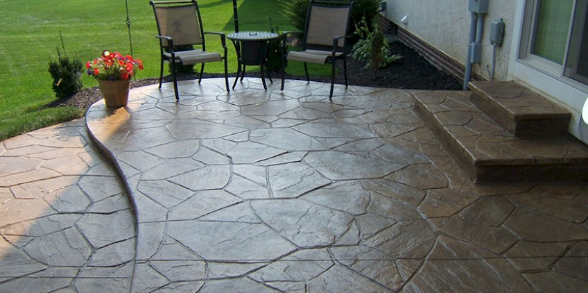 Concrete Landscaping Beautiful Stamped Concrete In Castle Rock Mountain West Landscaping