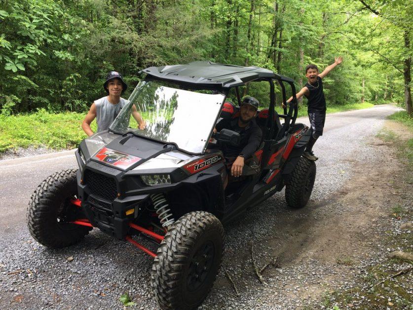 Family Exploring the Woods of Gatlinburg