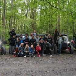 Family Picture With Rental UTVs