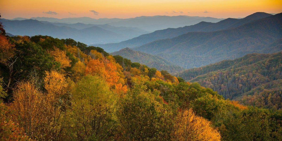 Gatlinburg Mountains in Fall