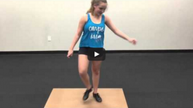 How to do a shuffle (Tap Dance Level Beginner)