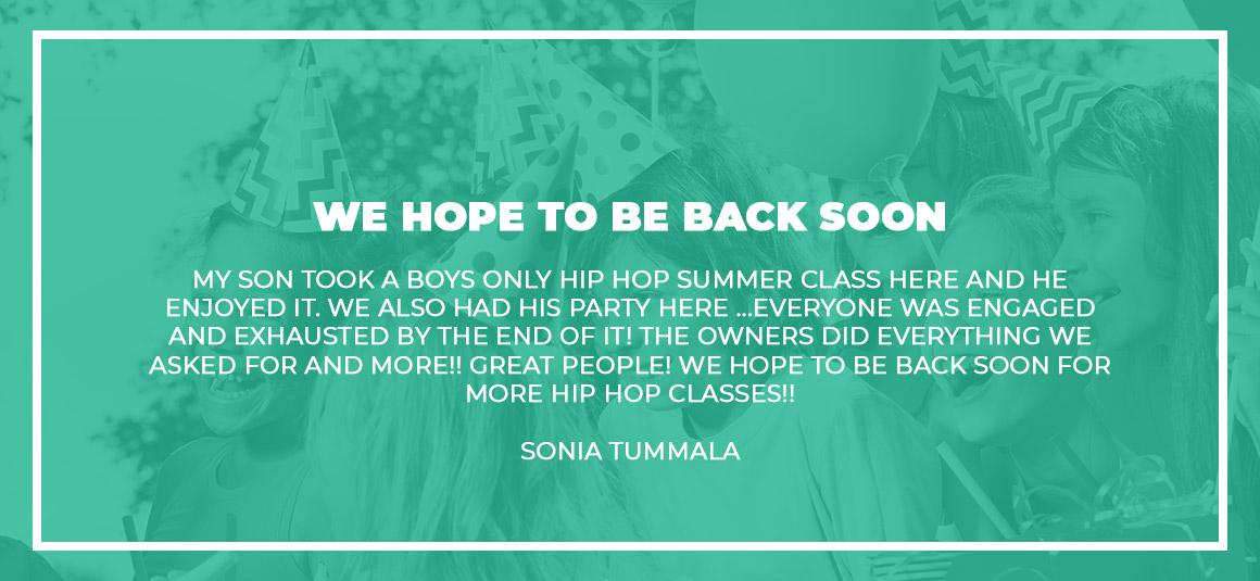 Sonia Tummala Testimonial