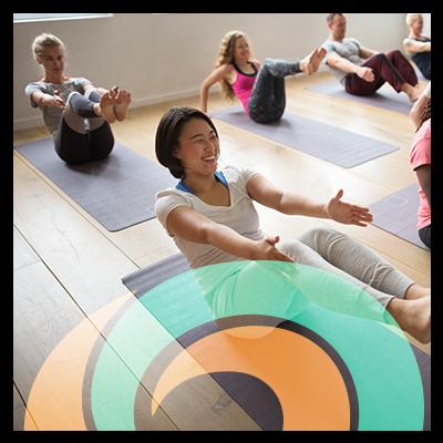 Yoga Class Circle Icon