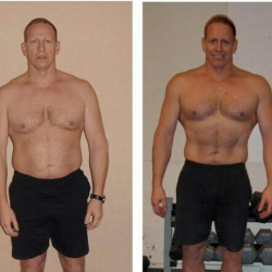 A fitness trainer from Mr. Rodgers Personal Training can lead to before and after shots like this.