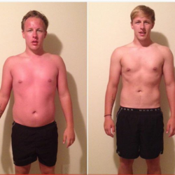 Fitness classes from Mr. Rodgers Personal Training can lead to before and after shots like this.