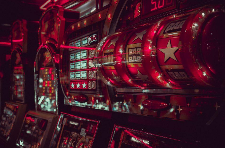 slot machine in casino restaurant