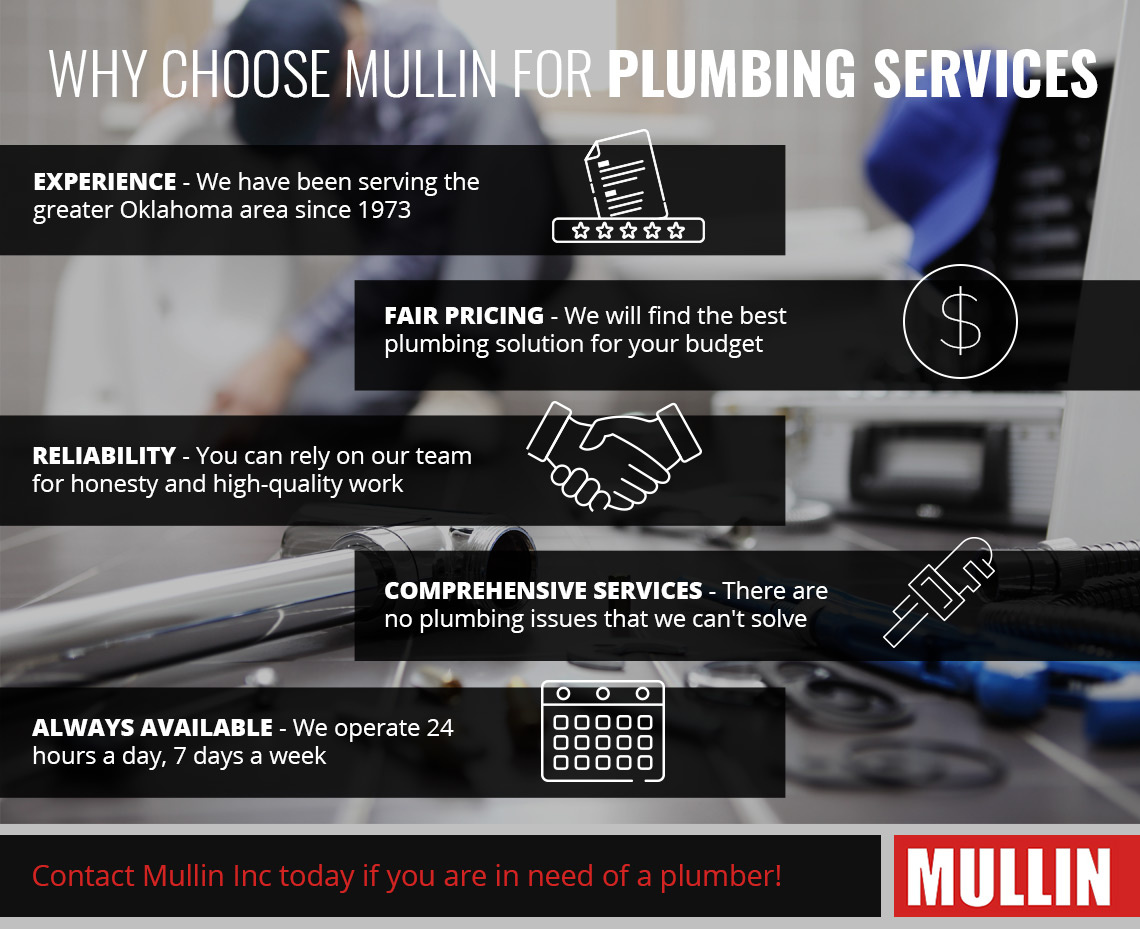 Mullin Plumbing Services Infographic