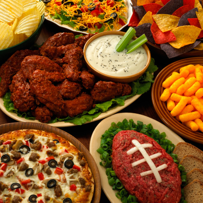 Super Bowl Sunday: pizza, wings, and (oh yeah) football!