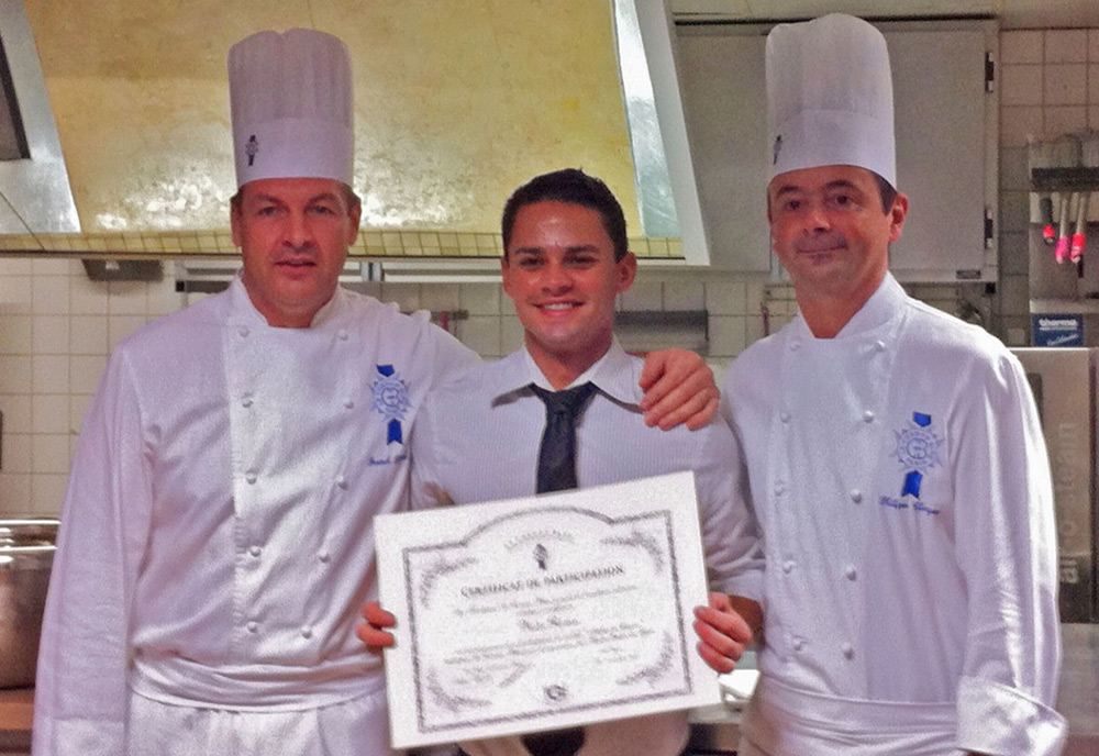 Paris, France-completing training of 'Hautes Etudes du Gout' with Le Cordon Bleu Chefs