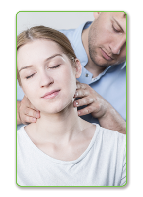 Chiropractic treatment of woman