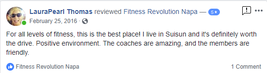 Fitness Revolution Testimonial Reviews Napa