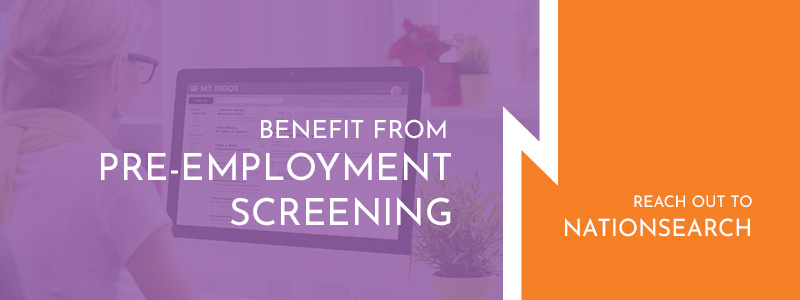 Call to action button about the benefits of pre-employment screening.