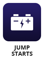 "A large battery icon with the term ""jump starts"""