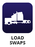 "A semi cab icon with the term ""load swaps"""