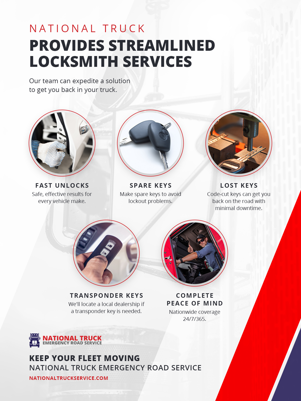 """National Truck Provides Streamlined Locksmith Services"" infographic"