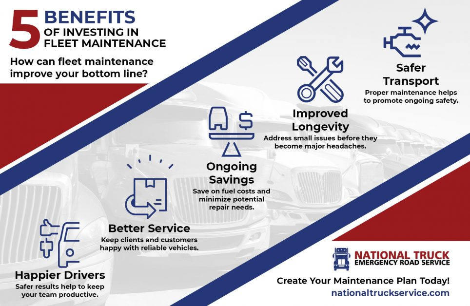 """5 Benefits of Investing in Fleet Maintenance"" infographic"