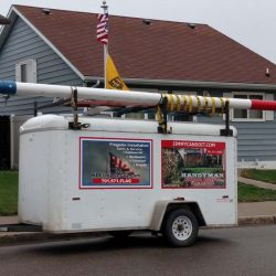 Residential flag pole installation - ND Flag Pole Guy