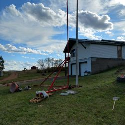 A residential flag pole installation - ND Flag Pole Guy